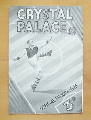 CRYSTAL PALACE V SOUTHEND UNITED 1948/1949 *Good Condition Football Programme* • 14.99£