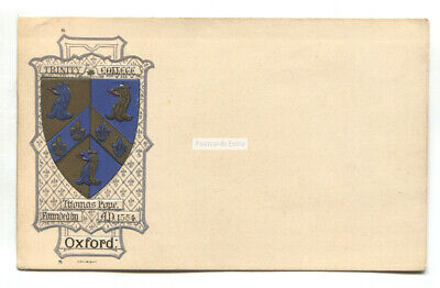 Trinity College, Oxford - Early Embossed Heraldic Postcard • 2.49£