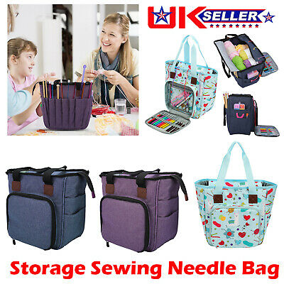 Knitting Storage Bag Yarn Hooks Crochet Sewing Tote Needle DIY Organizer  • 17.92£