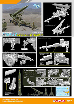 Dragon 1:35 MGM-52 Lance Missile Launcher Plastic Model Kit #3600 • 26.99£