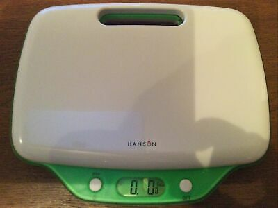 Hanson Digital Electronic Kitchen Scale Up To 5kg Inter Grated Handle 9614 • 14.99£