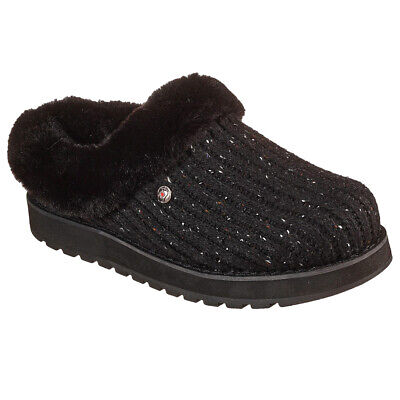 Skechers Ladies Keepsakes Instant Flashback Black Slip On Mule Slippers 113411 • 37.95£