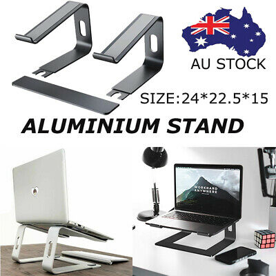 """AU35.99 • Buy Portable Aluminium Laptop Stand Tray Holder Cooling Riser For 11""""-17"""" MacBook AU"""