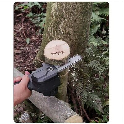 4  Mini Electric Chainsaw 24V Ever Battery-Powered Wood Cutter Rechargeable 1PC • 31.26£