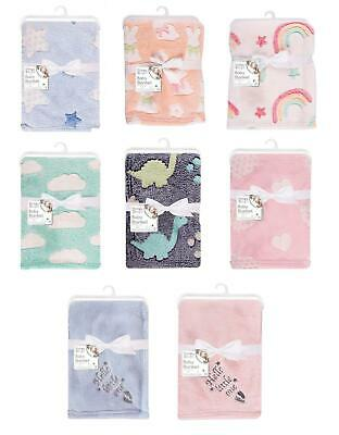 Soft Baby Fleece Blanket Cot Pram Travel Babies Comfort Luxury 75x100cm • 7.99£