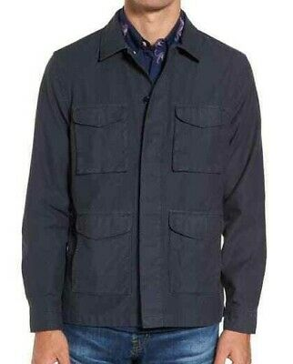 $34.97 • Buy NWT - BONOBOS Men's THE MILITARY Navy SLIM-FIT BUTTON-FRONT JACKET - L