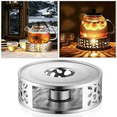 £7.89 • Buy Stainless Steel Candle Round Base Heater Coffee Tea Teapot Light Warmer Holders