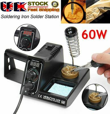 £28.89 • Buy NEW 60W Soldering Iron Station Rework Kit Variable Stand Temperature LED Digital