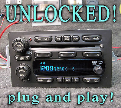 $303.99 • Buy Unlocked! 03 04 05 06 Silverado Denali Suburban Radio 6 Cd Disc Changer Player