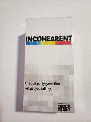 AU11.79 • Buy New What Do You Meme? Incoherent Incohearent Adult Party Game