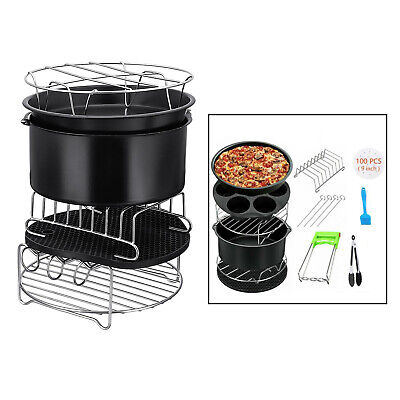 AU42.87 • Buy 12pcs/set 9Inch Air Fryer Accessories For Phillips And Secura Grill Pot Tool