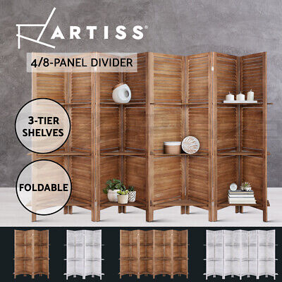 AU99.90 • Buy Artiss 4/8 Panel Room Divider Screen Privacy Dividers Timber Wood Fold Stand