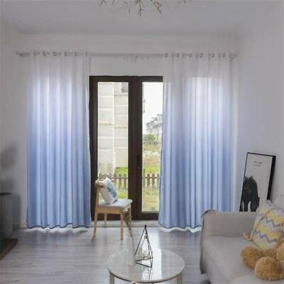 Bedroom Gradient Color Blackout Curtains Curtain Panels Printed Polyester • 10.12£