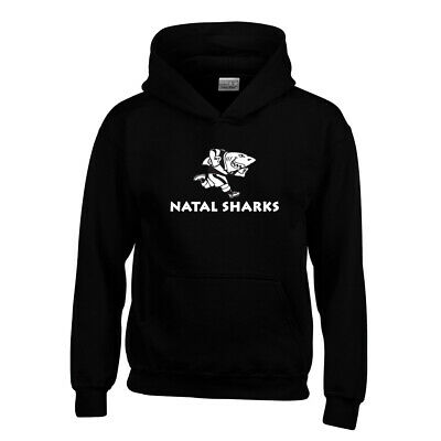 £13.95 • Buy NATAL SHARKS Rugby Youth Hooded Sweat [black]