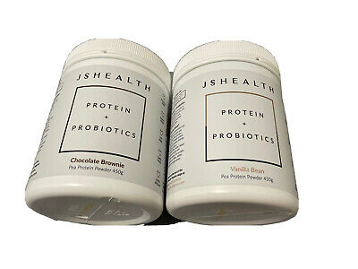 AU45 • Buy JS HEALTH PEA PROTEIN + PROBIOTICS 450G VEGAN - GLUTEN FREE- $40 For 1 $80 For 2