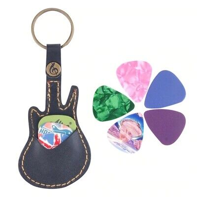 $ CDN12.66 • Buy Guitar Keychain Leather Pick Holder Keychain Gift For Guitarists Musicians