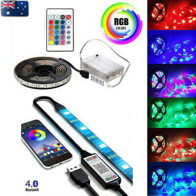 AU18.99 • Buy USB/Battery RGB LED Strip Light Wireless Bluetooth/Remote Control TV Backlight