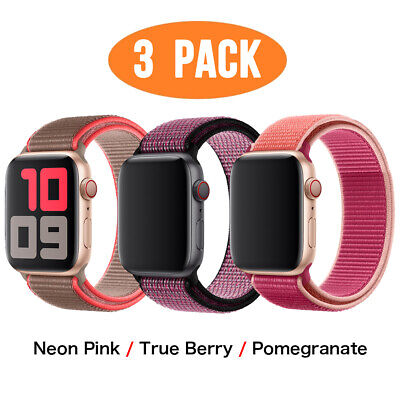 AU15.99 • Buy 3 PACK Nylon Sport Band Strap For Apple Watch Series 6 5 4 3 1 40 44mm IWatch SE