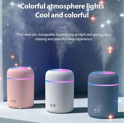 AU18.79 • Buy 300ML Electric USB LED Humidifier Car Air Diffuser Oil Aroma Mist Relax Defuser