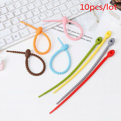10pcs Bag Ties Cable Zip Tie Twist Multi-use Bag Clip Bread Tie Food Saver; OS • 5.58£