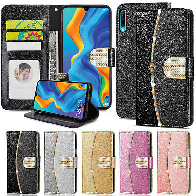Luxury Leather Flip Wallet Phone Case Cover For Huawei P20 P30 P40 Lite P Smart • 3.99£