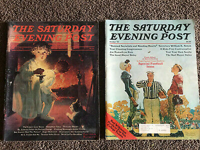 $ CDN31.25 • Buy 2 Vintage 70's Norman Rockwell Christmas Football Sat Evening Post Magazines