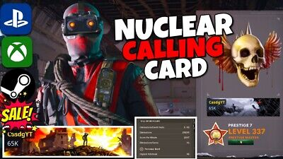 £21.36 • Buy NUCLEAR CALLING CARD - Call Of Duty Cold War - PS4/XBOX/PC