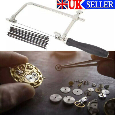 Adjustable Jewellers Piercing Saw Frame Jewellery Making Tool Or 12x Saw Blades • 10.69£