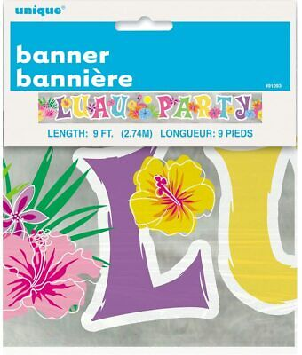 Unique - Luau Party Foil Banner - 9ft  • 1.49£