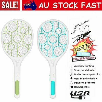 AU20.96 • Buy Electric Bug Zapper Tennis Racket Mosquito Fly Swatter Insect Killer Handhel GN