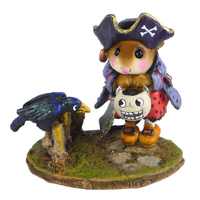 $118 • Buy Wee Forest Folk CURIOUS CROW, WFF# M-532,  Halloween Pirate Mouse