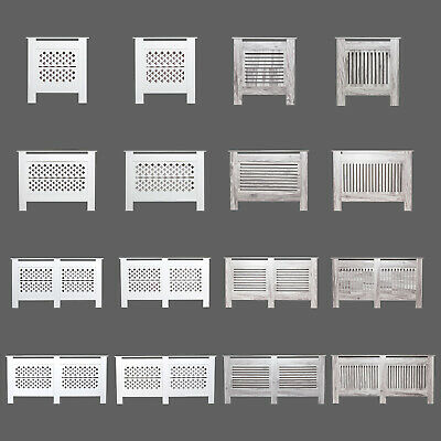 Radiator Cover Grill Shelf Cabinet MDF Wood Traditional Furniture 4 Styles • 34.90£