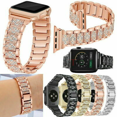 AU16.99 • Buy For Apple IWatch Series SE 6 5 4 3 2 1  Diamond Stainless Steel Watch Band Strap