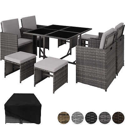 £419.95 • Buy Rattan Garden Furniture Set Cube Wicker 8 Seater Table Cushions Home Patio New