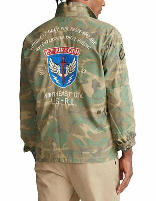 $245.95 • Buy Polo Ralph Lauren Military Army Camo Officer Ripstop Soldier Shirt Size XL $328