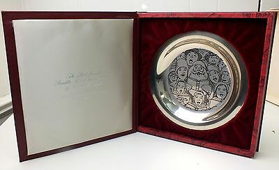 $ CDN304.50 • Buy Norman Rockwell 8  Plate Solid Sterling Silver The Carolers 1972 Christmas Santa