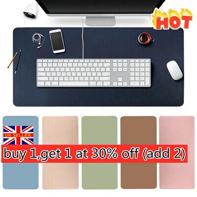 AU15.52 • Buy Large Leather Computer Desk Mat Keyboard Mouse Pad Laptop Cushion Home Office