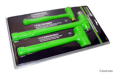 View Details DEAD BLOW HAMMER SET – Deadblow Hammers – High Visibility Green – Hand Tools • 39$
