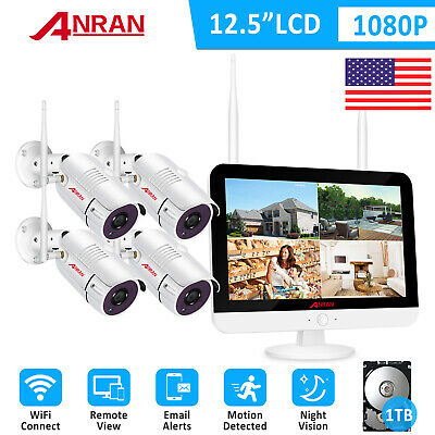 AU399.24 • Buy 1080P 8CH 12 Monitor NVR Wireless Security System Camera Home Outdoor 1TB Night