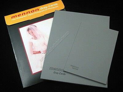 Mennon 18% Gray Card Set 10x8  8x6  2 Pcs For White Balance Exposure • 9.40£