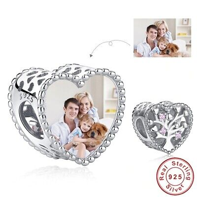AU20.39 • Buy Photo Charms, Sterling Silver Sparkling Family Tree Of Life Pink CZ, Blingget