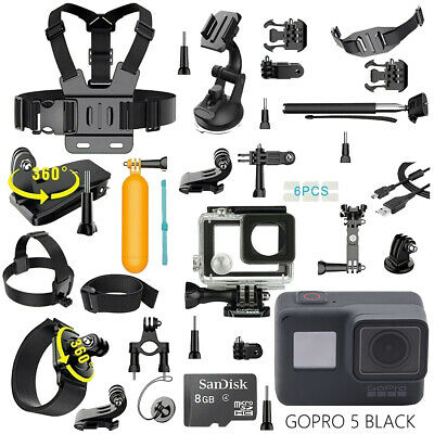 AU270.03 • Buy GoPro HERO 5 Black Edition Camera With 40Pcs Accessories + Waterproof Case