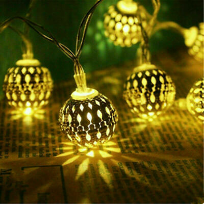 Moroccan Ball 10/20/40LED Fairy Lights Battery Operated String Light Party Lamps • 7.99£