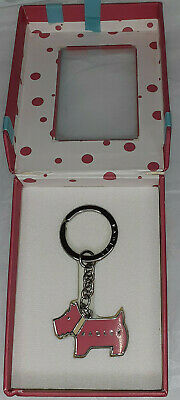 £13.50 • Buy RADLEY Keyring In Pink Presentation Box-Pink Dog With Cream Collar SPECIAL EDT👁