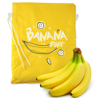 BANANA TIE UP STORAGE BAG New Kitchen Fruit Polyester Fridge Container Organiser • 5.90£