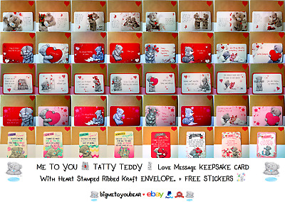 £3.19 • Buy 💌TATTY TEDDY💌Me To You💌Love Message KEEPSAKE CARD & ENVELOPE💌Gift💌New💌