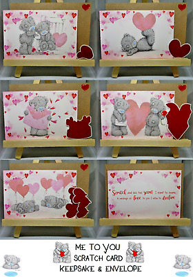£3.49 • Buy 💝ME TO YOU💝SCRATCH CARD Love Message KEEPSAKE & ENVELOPE💝Gift / Present💝New