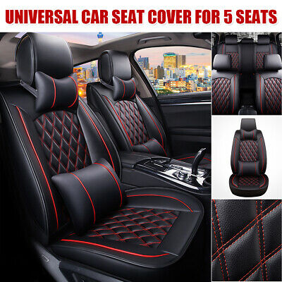 $ CDN94.01 • Buy Universal PU Leather 5-Seats SUV Front + Rear Car Seat Cover Cushion Full Set US