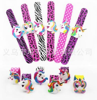AU6.75 • Buy Unicorn Slap Band Birthday Party Supplies Loot Bag Favour Wristband Bracelet