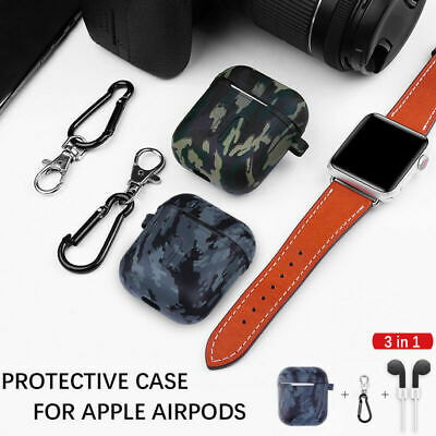 $ CDN5.79 • Buy For Apple AirPods 1/2 Case Camouflage Soft Cover Accessories Airpod Protector